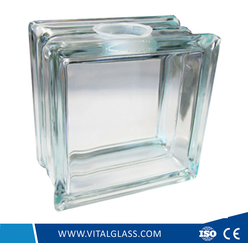 Clear Perforated Glass Brick/Block (G-B)