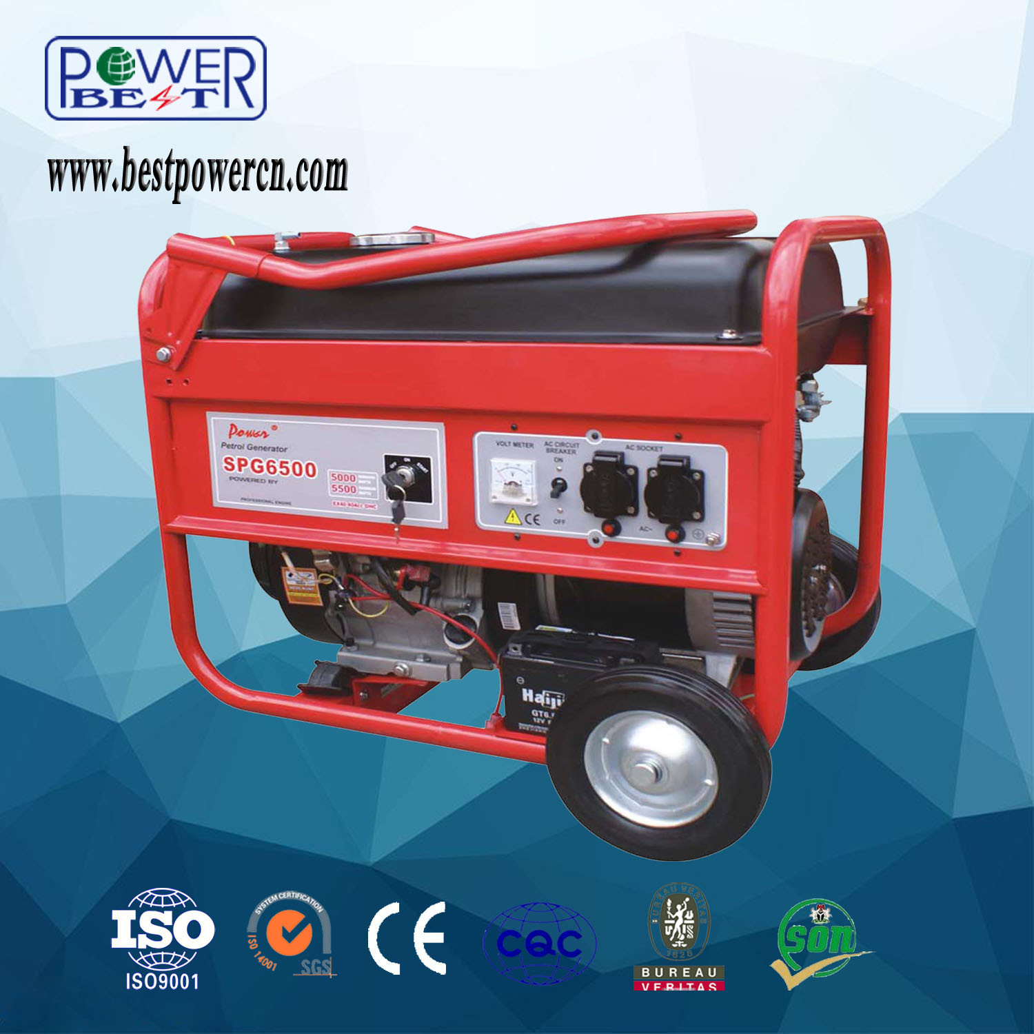 China 4kw AC Electric Start Home Use Petrol Generator with Handle
