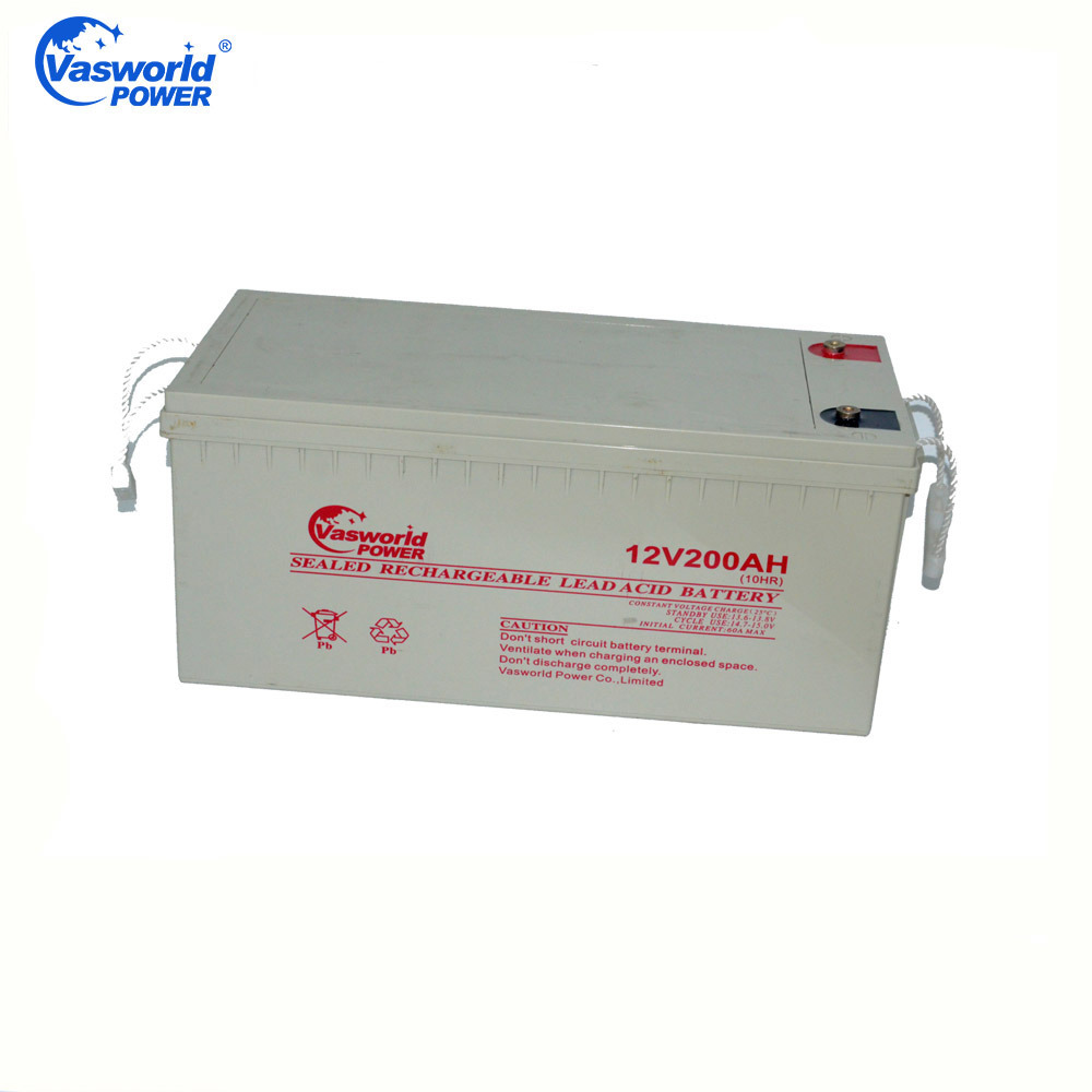 12V200ah Lead Acid Deep Cycle AGM Rechargeable Solar Battery