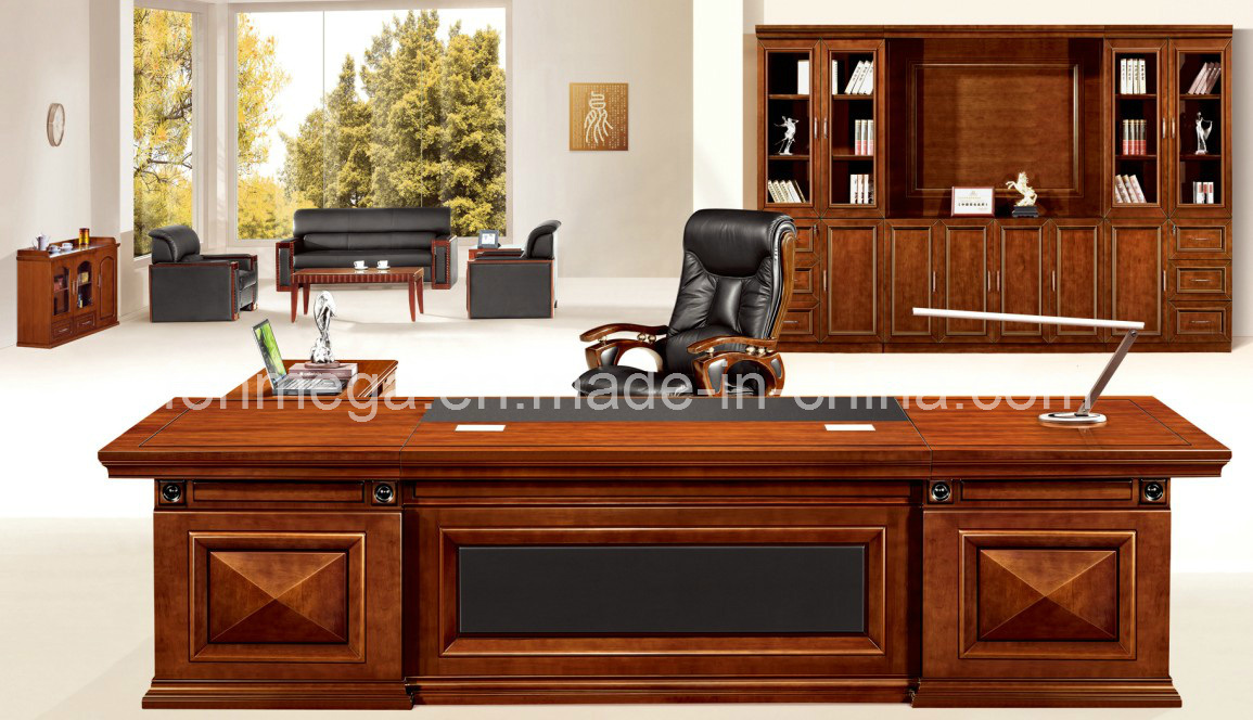 China large antique boss office desk boss office furniture foha 28120 photos pictures made - Antique office desk ...