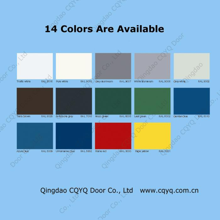 China garage doors colors china garage doors colors for Garage door colors