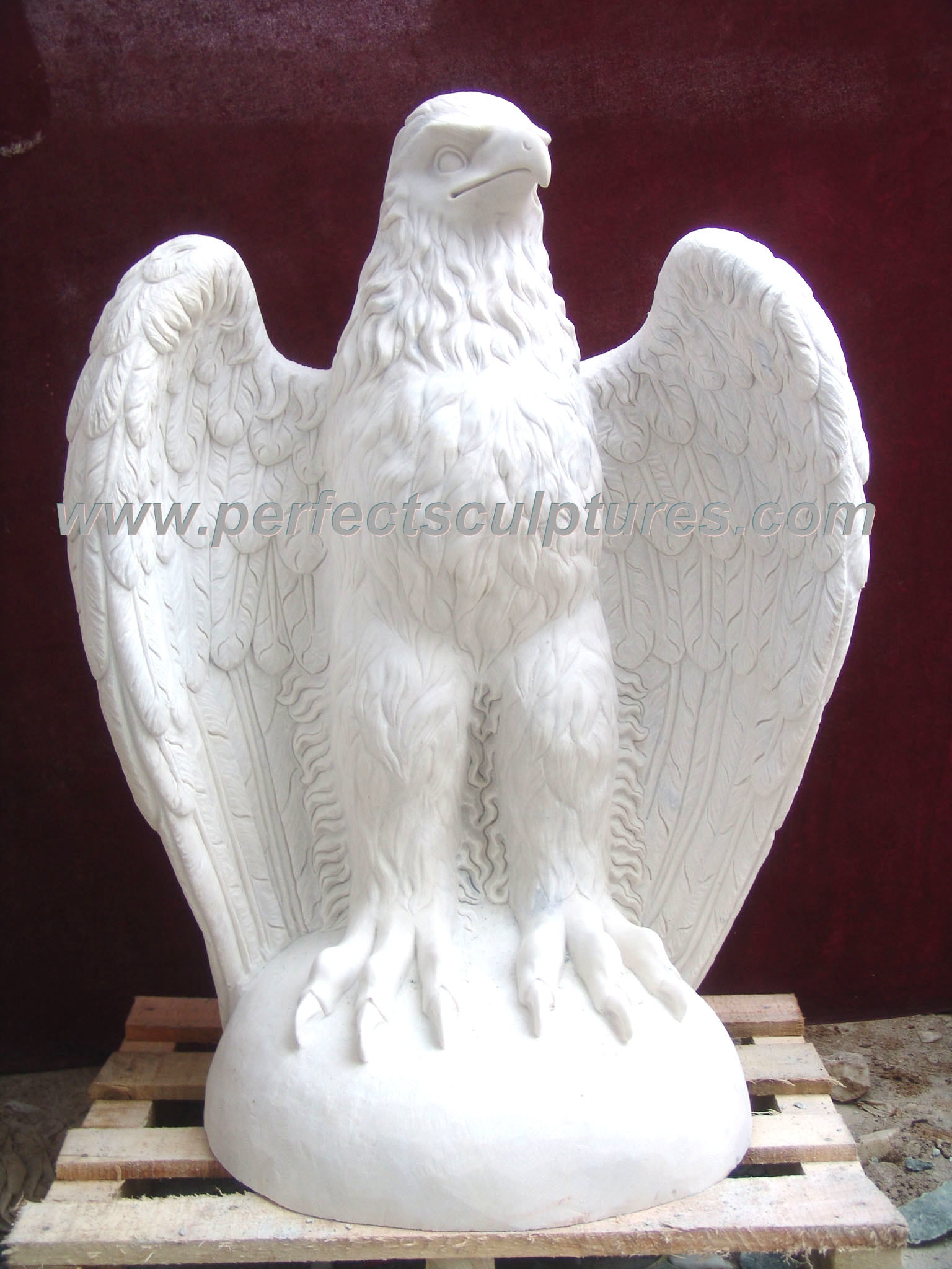 China carving stone marble eagle statue animal for garden