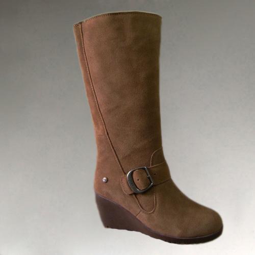 china winter fashion sheepskin high heel snow boots bl