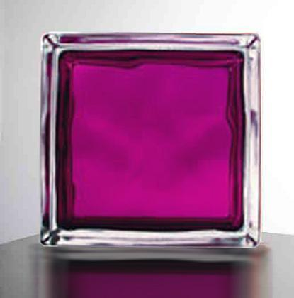 Glass block in colored aubergine china glass block for Hollow glass blocks for crafts