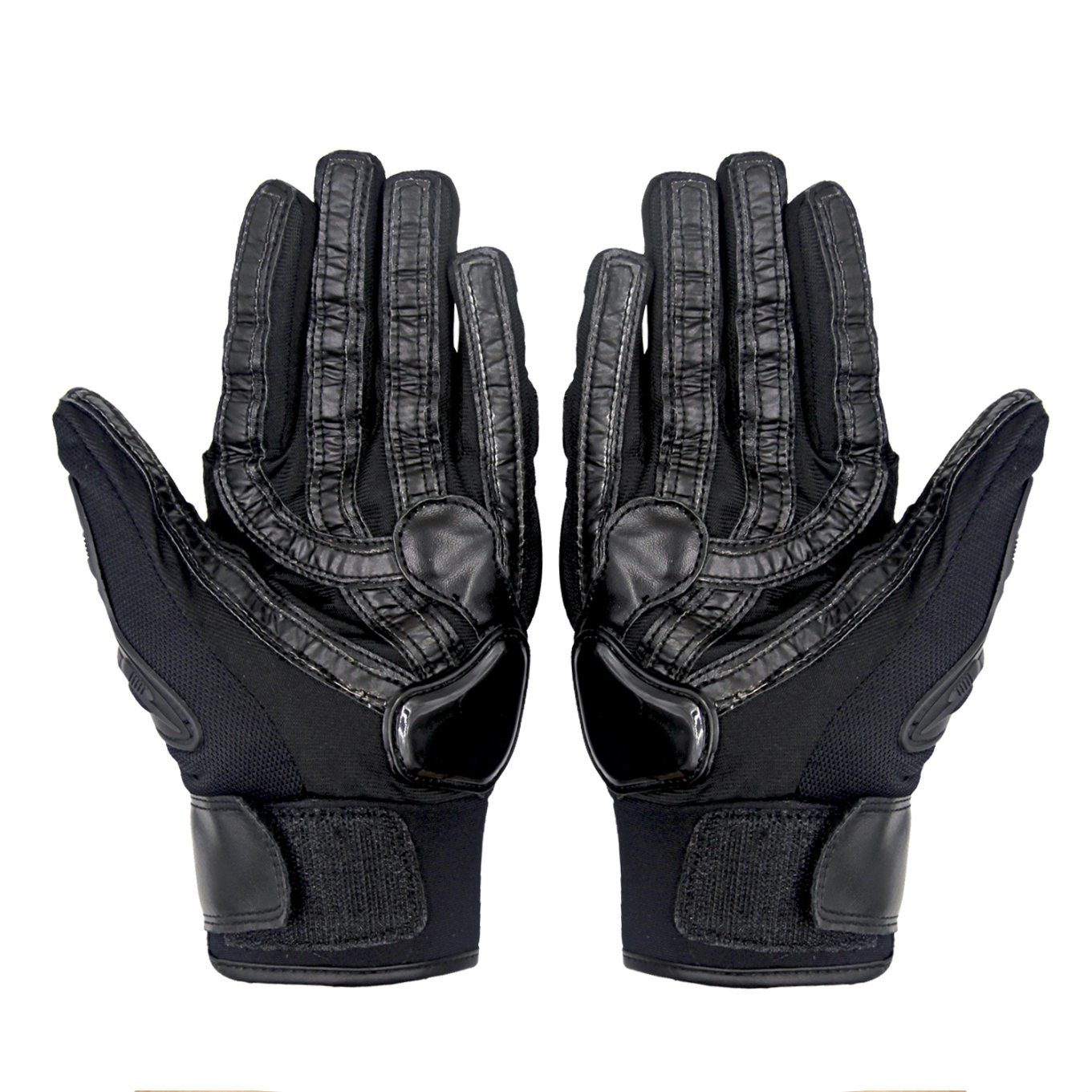 Police Security Tactical Gloves with Leather Material