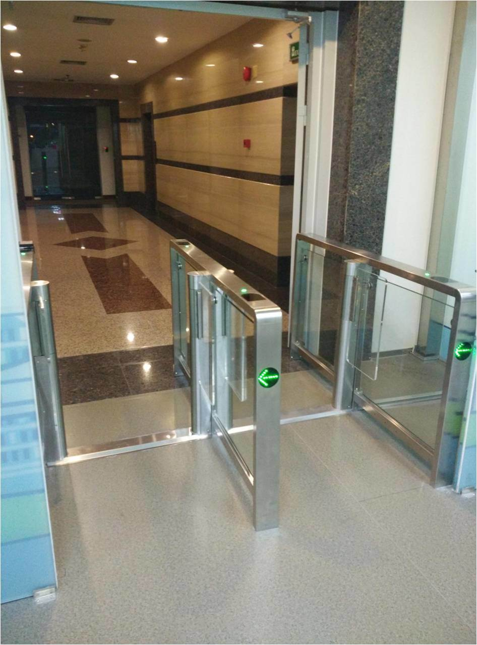 High Traffic Half-Height Access Control Gate with Swing Door