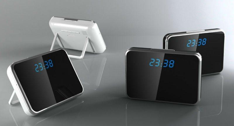 1280X960 Motion Detection Mini DV Video Recorder Digital Mirror Table Alarm Clock Camera