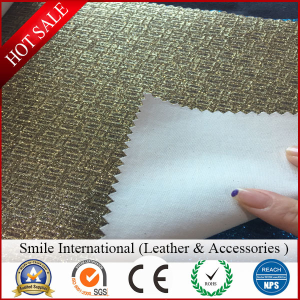 Glitter Artificial Leather for New Design