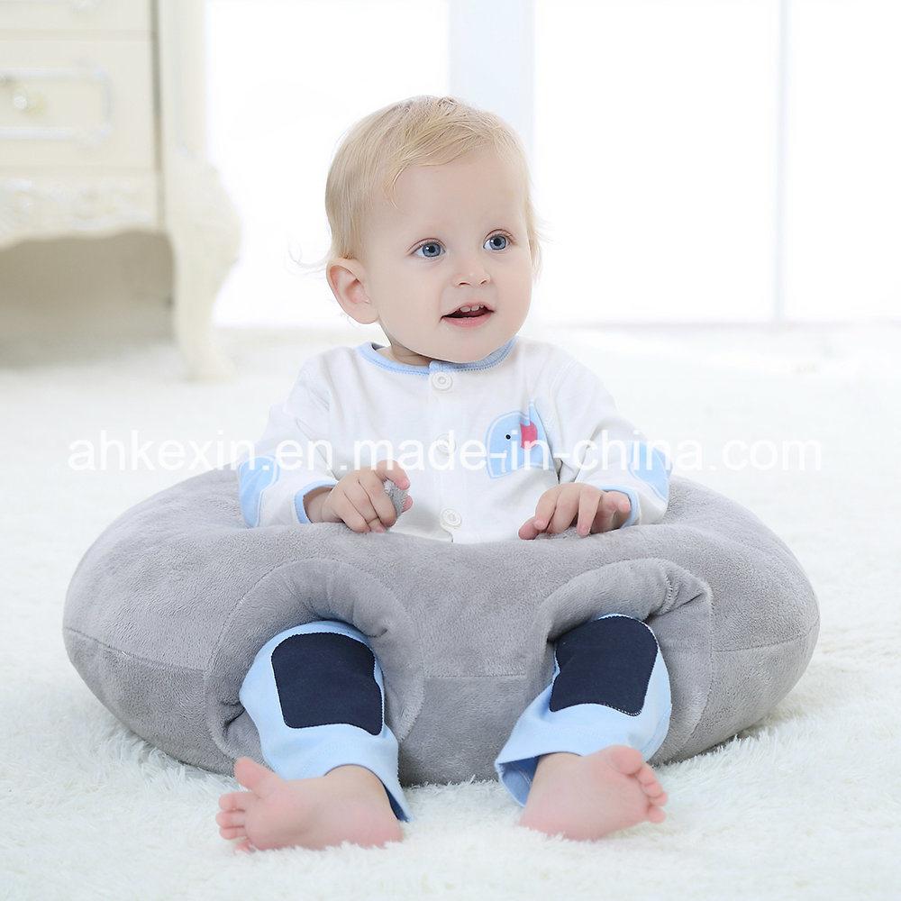 Soft Round Plush Fabric PP Cotton Baby Pillow