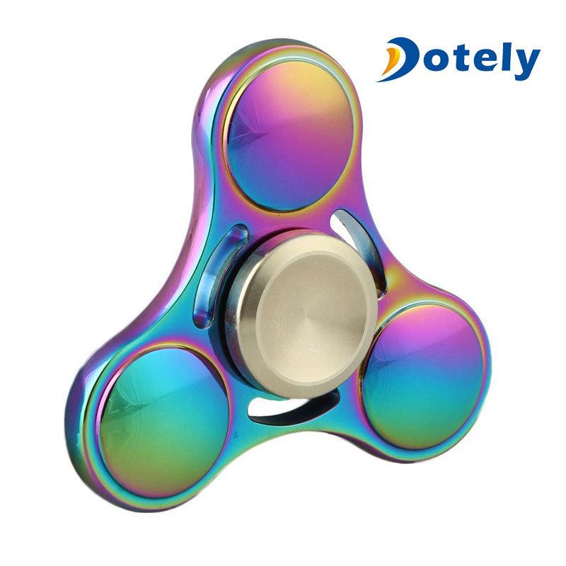 Fidget Spinner Rainbow Metal Finger Gyro