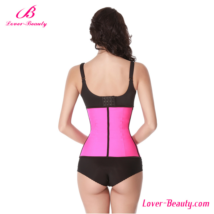 Wholesale Sexy Pink Latex Steel Boned Waist Trainer