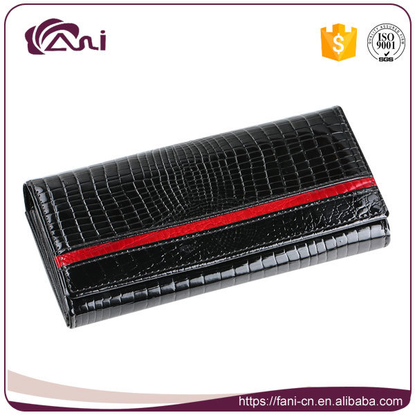 Fani High Quality Delicate Crocodile Wallet, Women Money Bag, Purse Wallet Genuine Leather