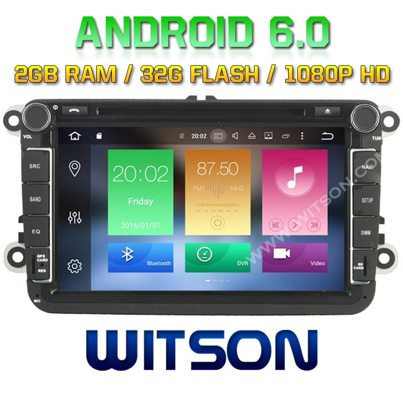Witson Octa-Core (Eight Core) Android 6.0 Car DVD for VW Jetta/Tiguan/Passat 2g ROM 1080P Touch Screen 32GB ROM