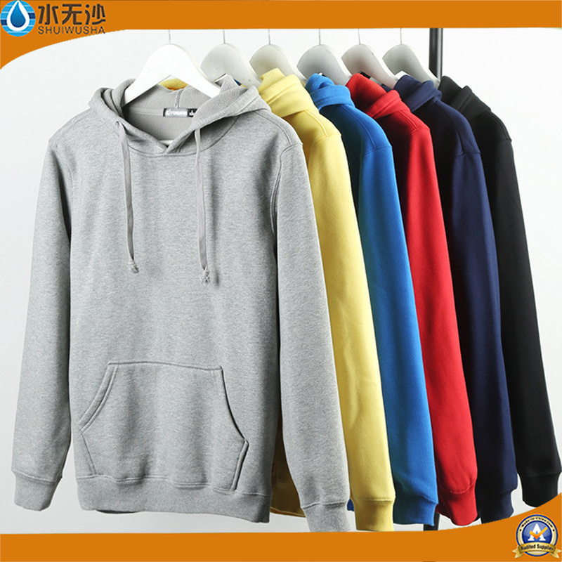 Wholesale Men Hoody Cotton Cheap Plain Sweatshirt Fleece Hoodies