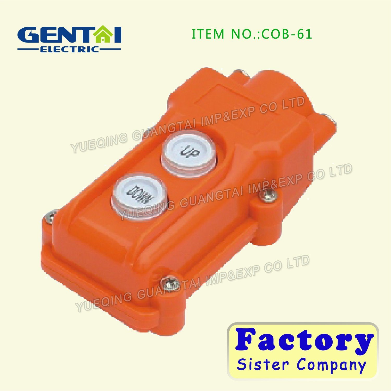 Waterproof Lifing Button Control Switch