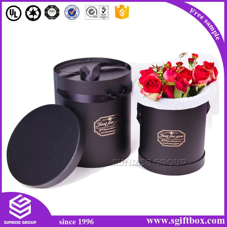Cmyk Custom Cylinder Packaging Flower Round Paper Box