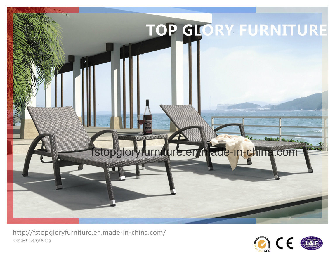 Outdoor Rattan Beach Chairs/ Sunbed/ Lounger/Daybed (TGLU-27)