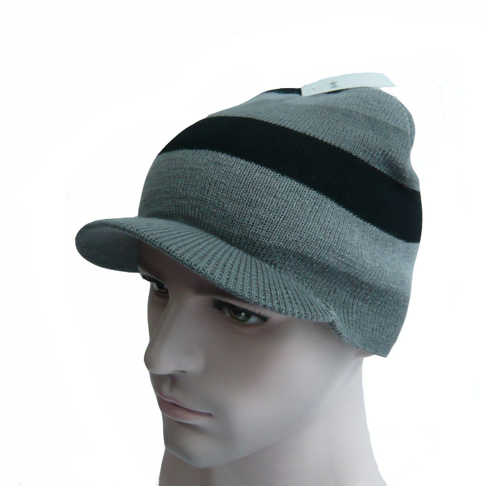 Multi Color High Quality Knitted Hat with The Brim