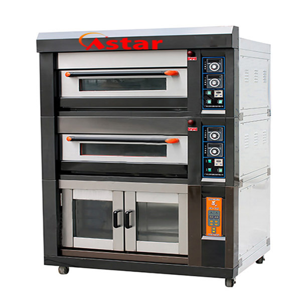 Electric Deck Oven with Proofer Bakery Equipment Combination Oven