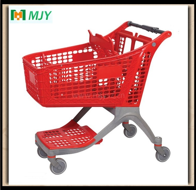 130 Liters All-Plastic Supermarket Shopping Trolley Mjy-CPP130
