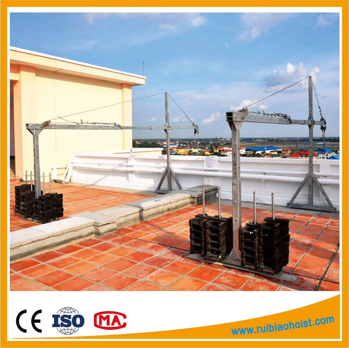 Zlp500/Zlp630/Zlp800/Zlp1000 Window Cleaning Suspended Platform, Window Cleaning Gondola