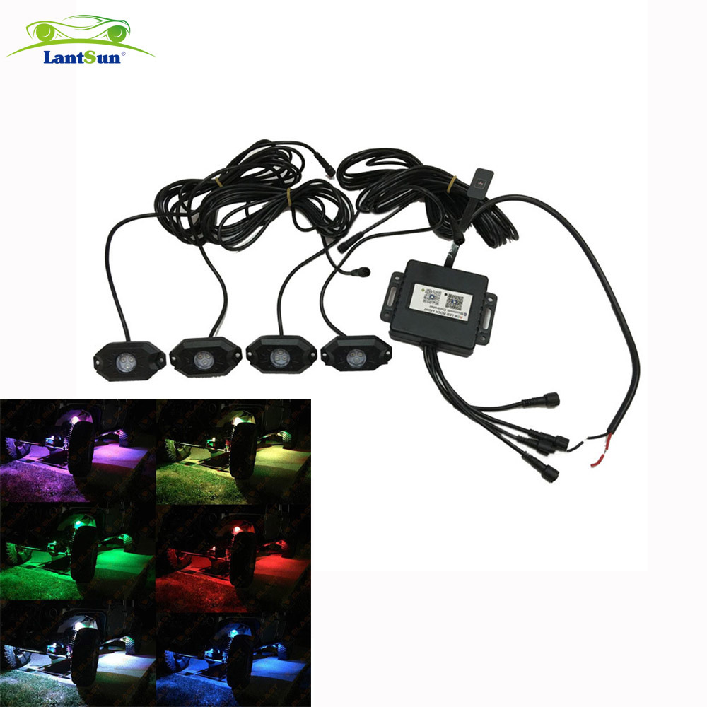 High-End Style Bluetooth Contrllor RGB LED Rock Light for Jeep ATV SUV Offroad