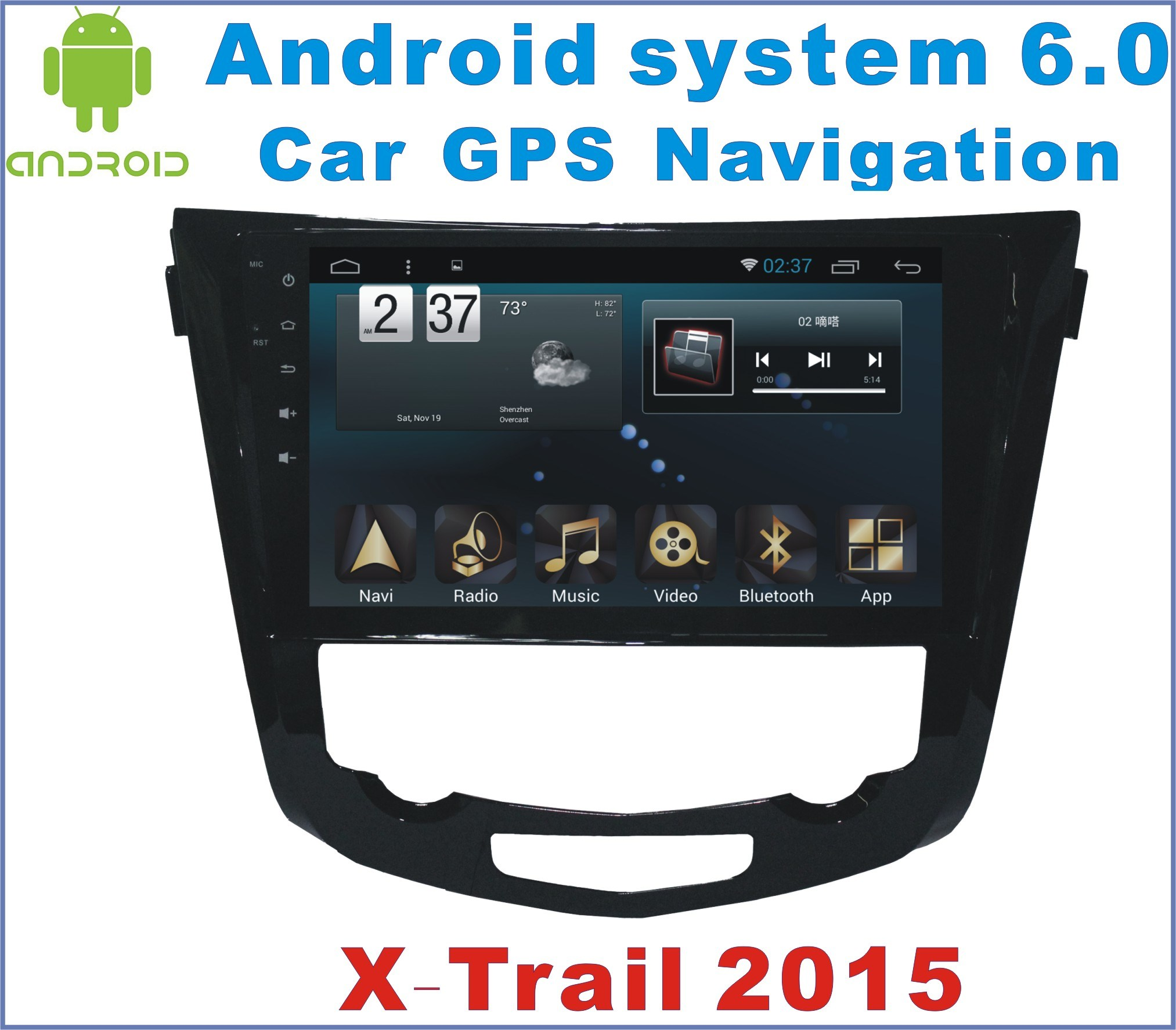 Android 6.0 Car Stereo for Nissan X-Trail 2014-2016 with Car Navigation
