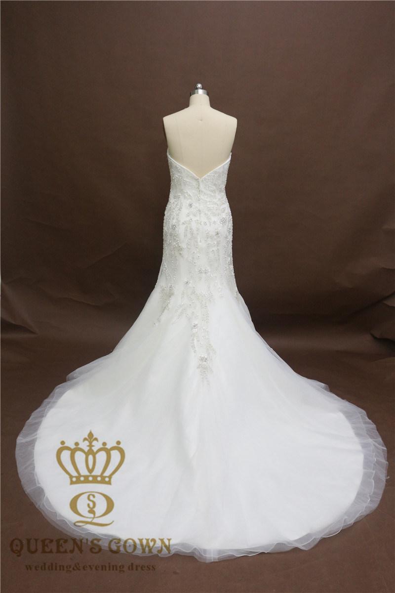 2017 Full Length Heavy Beading Bridal Gown Sexy Bridal Wedding Gown Mermaid Wedding Dress
