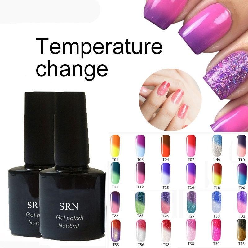 Sexy Mix 8ml Temperature Color Changing UV Nail Long Lasting Gel Polish Varnish