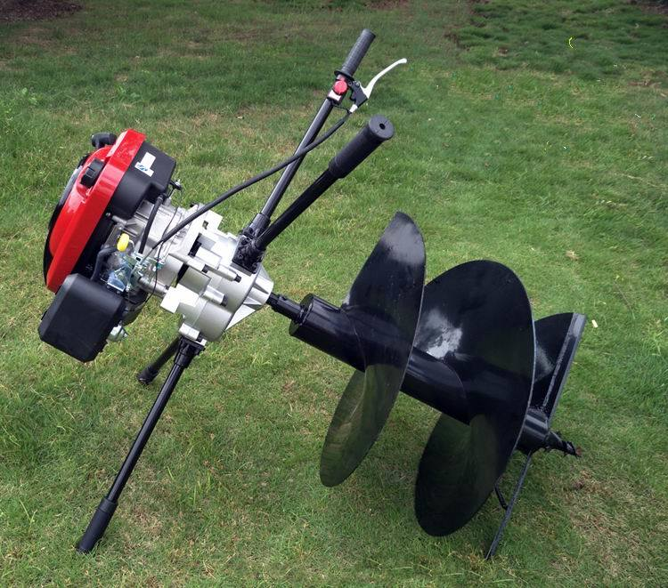 Most Popular Earth Auger Hole Digger Model in 2017 (4-Cycle Loncin Engine 196cc, 6.5HP)
