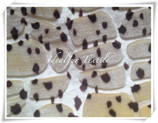 Polyester Boa Plush Fake Fur with Leopard Point