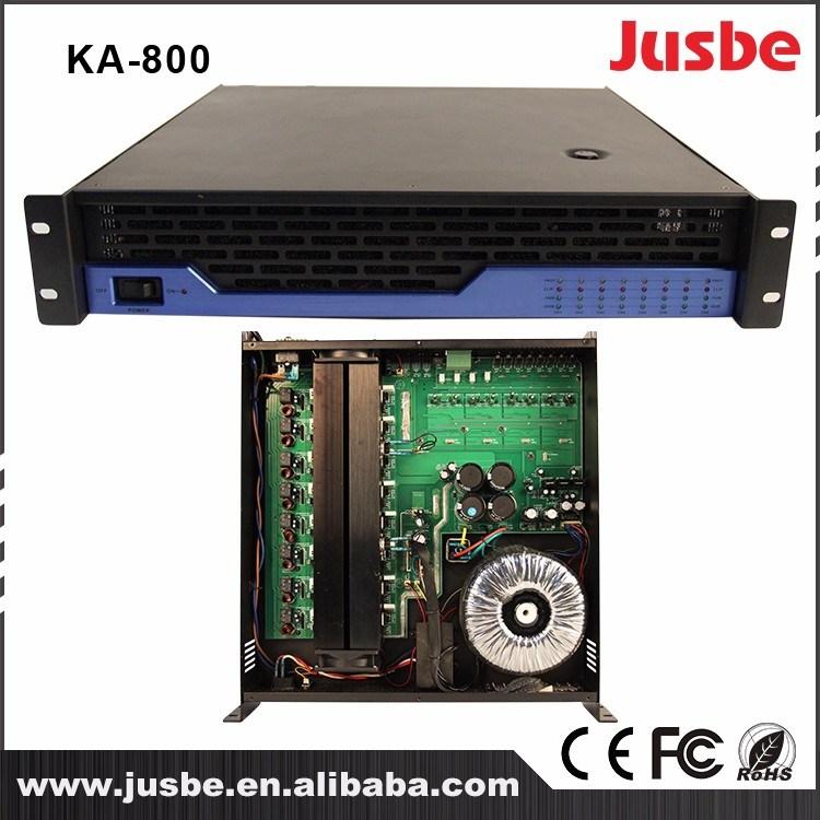 Jusbe Ka-800 8 Channel 120W/8ohm 200W/4ohm RS485 Interface Multimedia Professional Audio Loudspeaker Amplifier