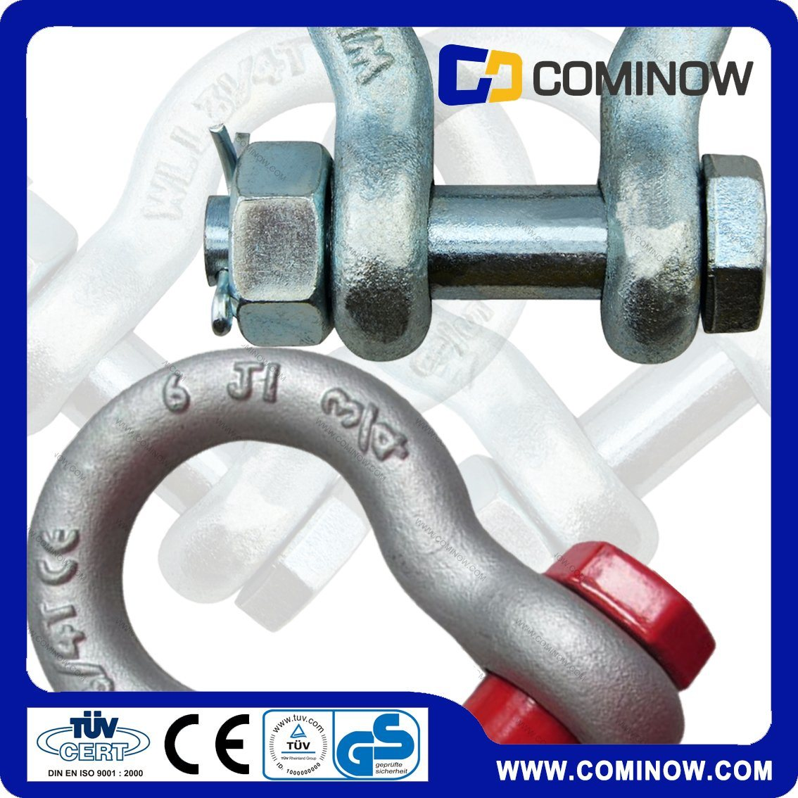 Us Type G2130 Hot DIP Galvanized Bolt Type Anchor Bow Shackle