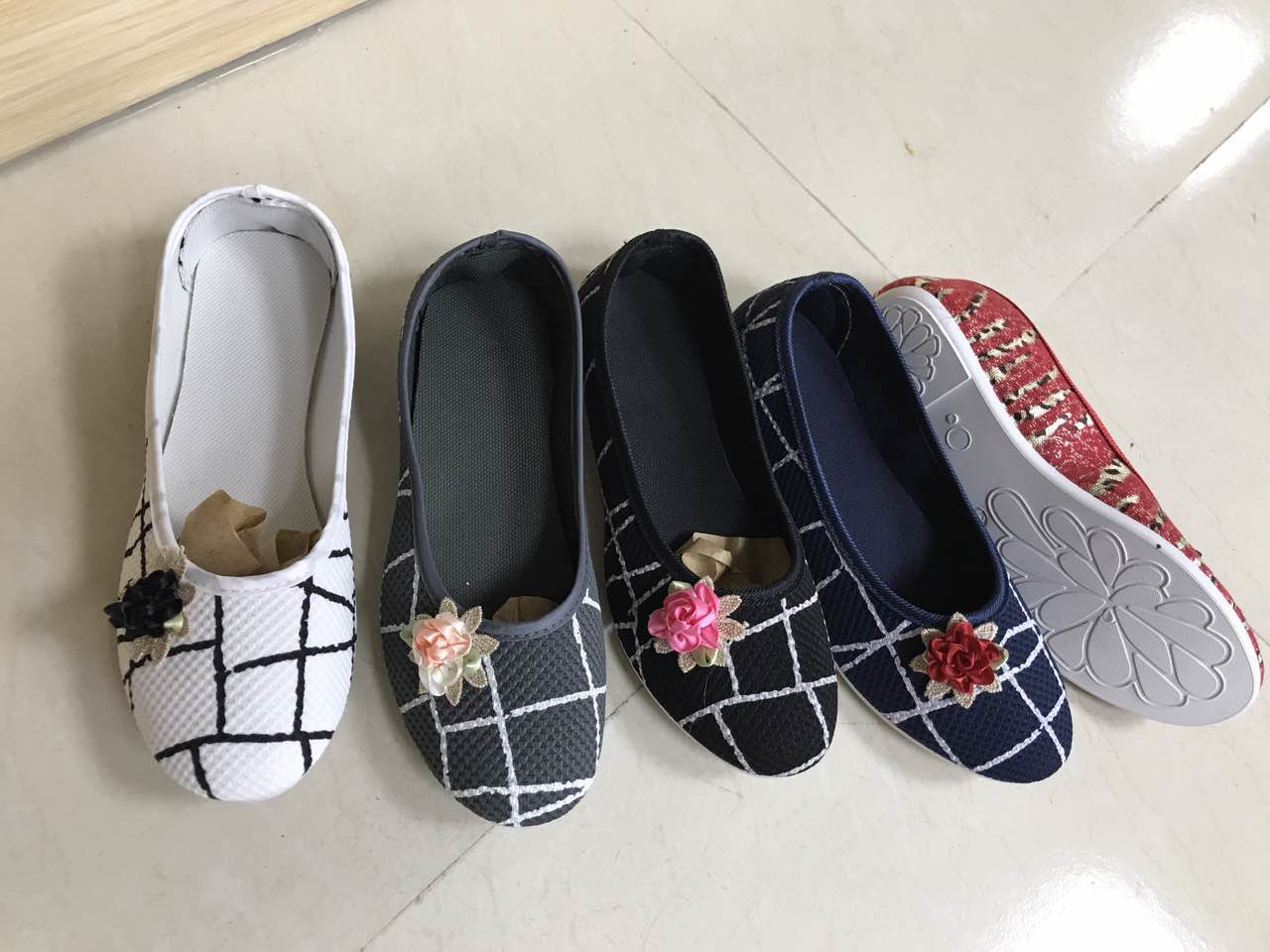 Cloth Shoes for Women Leisure Shoes Fashion Knitting Flat Breathable