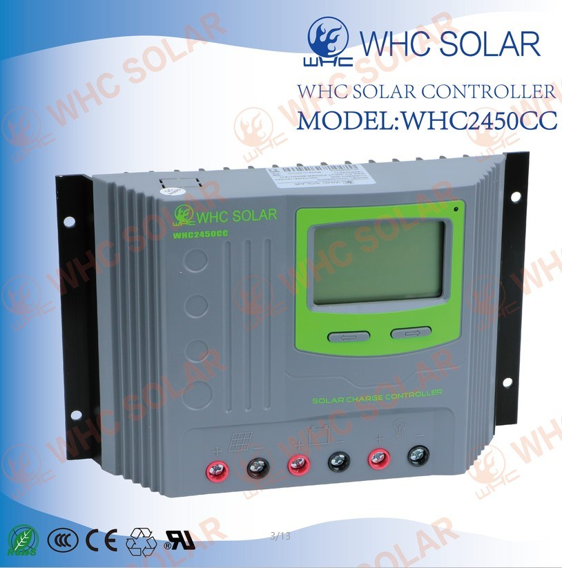 Plastics Shell 12V/24V 50A PWM Solar Charge Controller