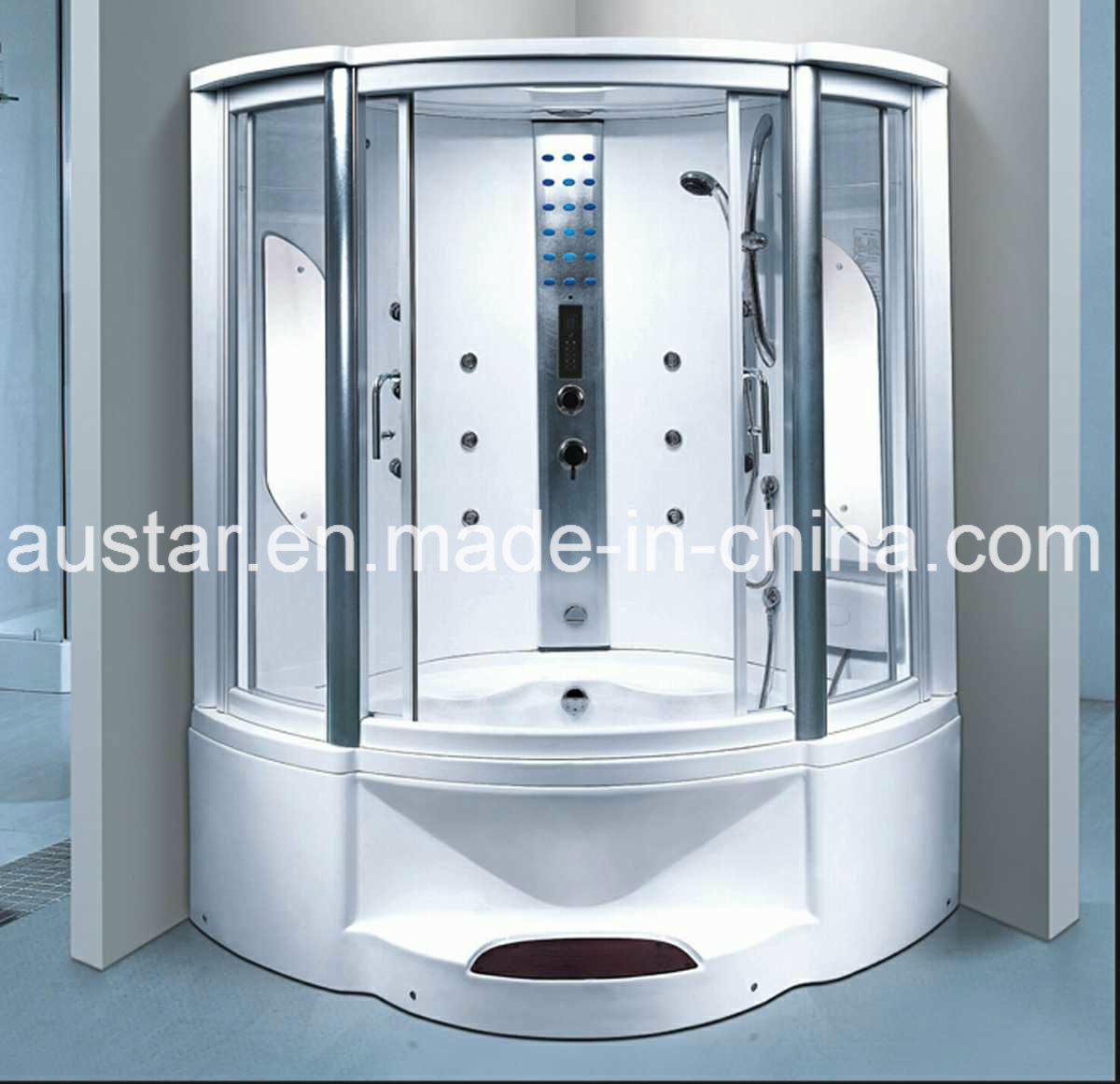 1350mm Sector Steam Sauna with Bathtub and Shower (AT-G8202F)