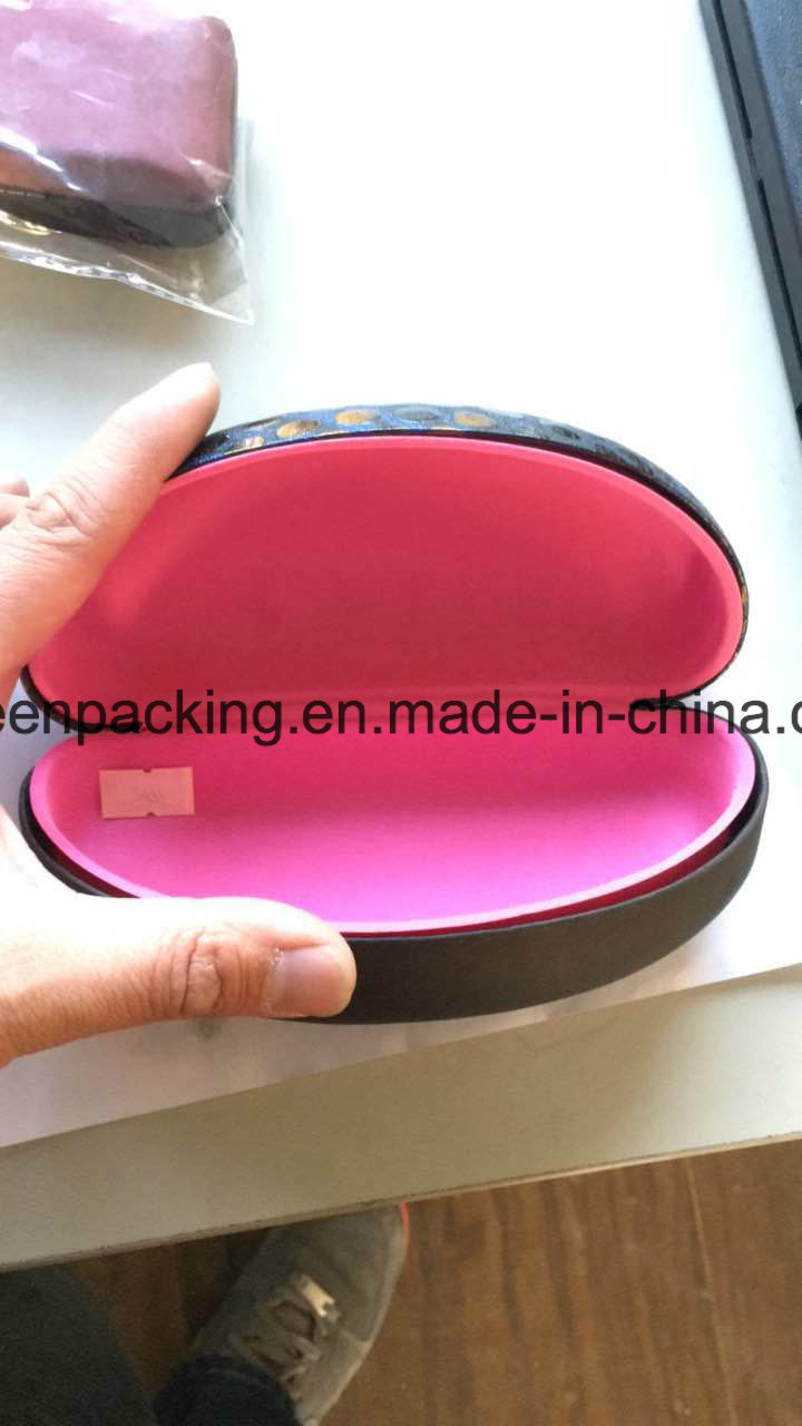 OEM Metal Sunglasses Case Wrapped PU Leather (SP16)