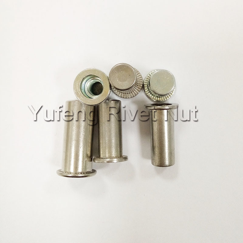 Flat Head Round Body Rivet Nut with Closed End