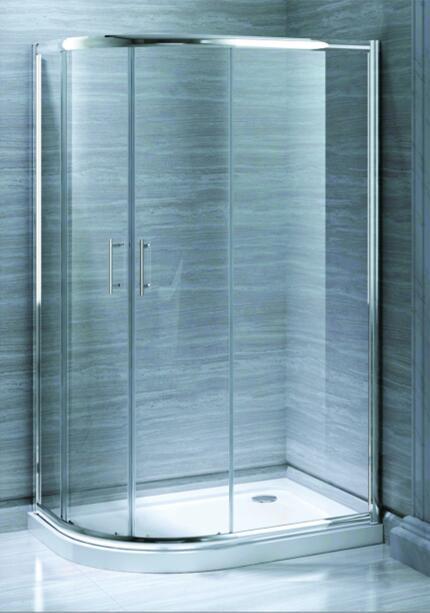 Bathroom MID-Range 6mm Offset Quadrant Door Shower Enclosure (MR-QD8012)