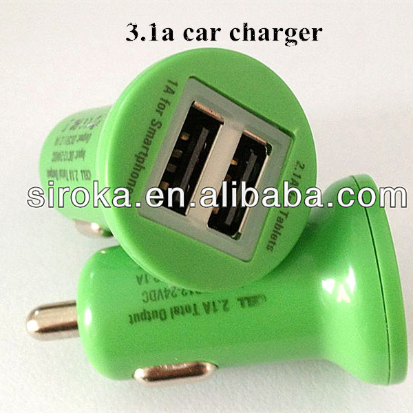 Newest 2-Port USB Car Charger for Cellphone