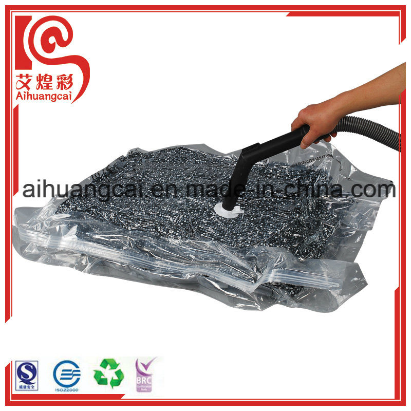 Clothes Storage Vacuum Packaging Plastic Bag with Ziplock