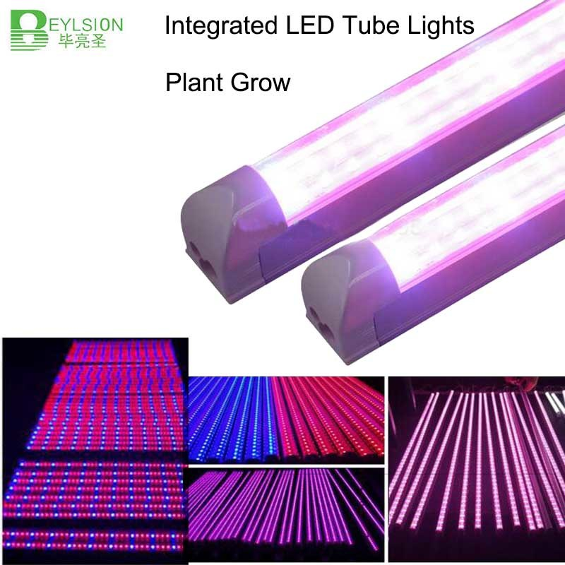 85-265V AC 60cm 90cm 120cm 150cm Plant Glrowth Integrated T8 Tube LED Grow Light High Quality