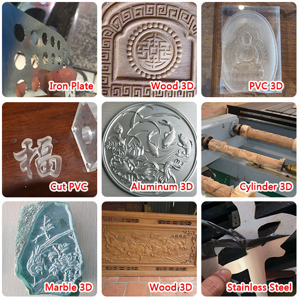 2017 New Economical Woodworking CNC Router Wood Engraving Good Quality Cutting Machine