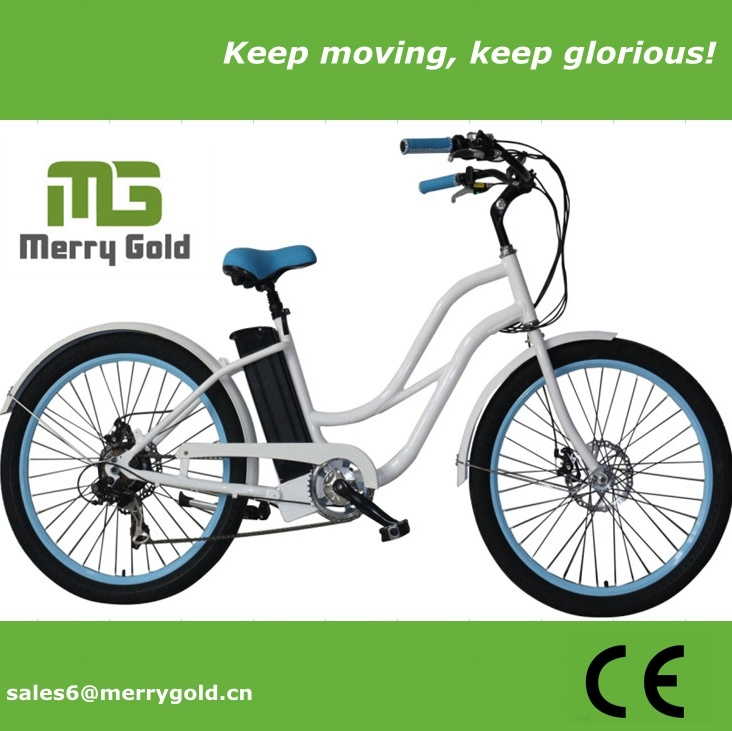 36V En15194 Approved Electric Beach Cruiser Bike for Ladies