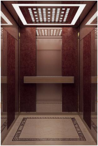 Qualified Passenger Elevator with Rose-Gold Mirror (ALD-KC012)