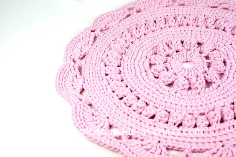 Hand Knitting T-Shirt Yarn Crochet Rug Blanket Home Decoration Carpet