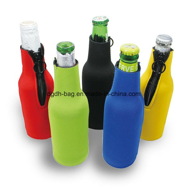 Neoprene 2 Bottles Pack Beer Can Cooler Neoprene Wine/Water Bottle Tote, Stripe Number 10