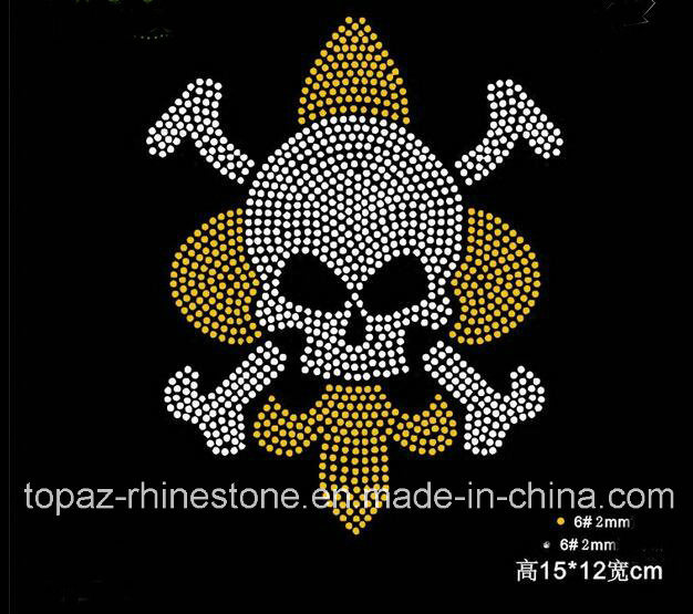 Newest Skull Hot Fix Rhinestone Motif for Clothes (TM-74)