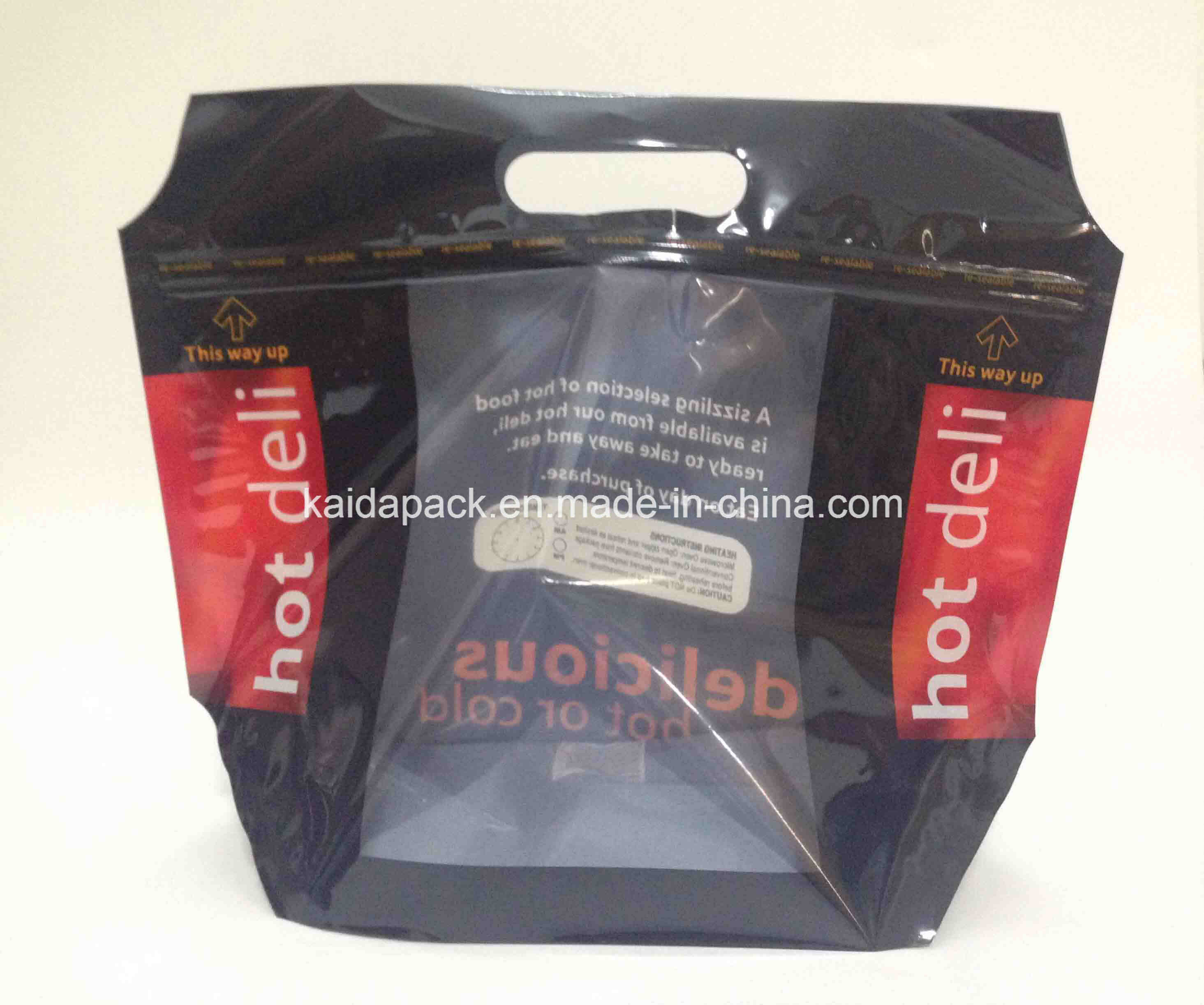 Stand up Zipper Bag with Window for Hot Deli Food