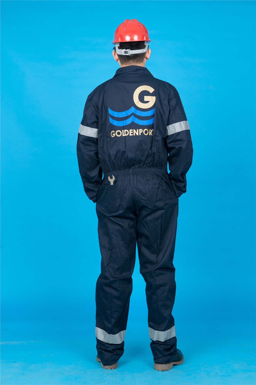 65% Polyester 35%Cotton Long Sleeve Safety High Quality Cheap Coverall (BLY1020)